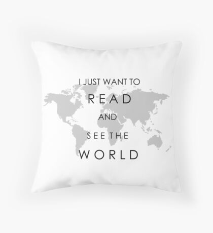 Read and See the World Throw Pillow
