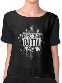 Straight Outta Insomnia Chiffon Top