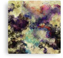 Violet Abstract Painting Canvas Print