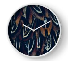 Feather texture Clock