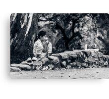 Stolen Shot of Childhood Canvas Print