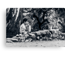 Stolen Moment of Childhood Canvas Print