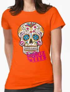 Scary Sugar Skull! Womens Fitted T-Shirt