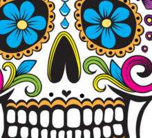 Scary Sugar Skull! Sticker
