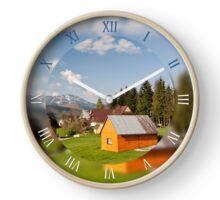 Bucolic mountains view in Koscielisko Clock
