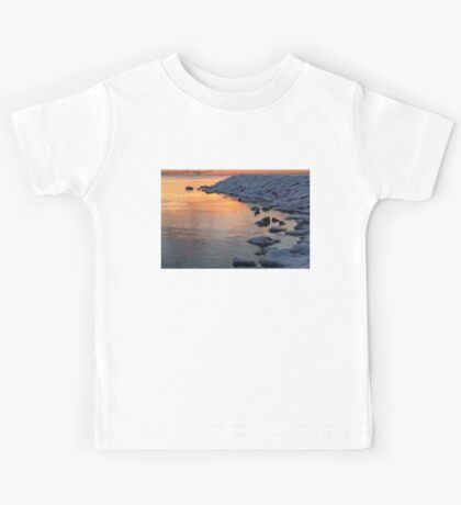 Cold and Hot - Colorful Sunrise on the Lake Kids Tee
