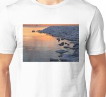 Cold and Hot - Colorful Sunrise on the Lake Unisex T-Shirt