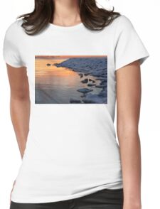 Cold and Hot - Colorful Sunrise on the Lake Womens Fitted T-Shirt