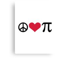 Peace Love Pi Canvas Print