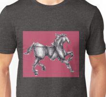 Rose Origami Horse Unisex T-Shirt