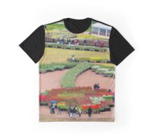 Tulip shape flowerbed Graphic T-Shirt