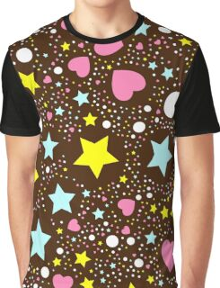 Abstract cute background with stars Graphic T-Shirt