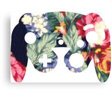 Floral GameCube Controller  Canvas Print