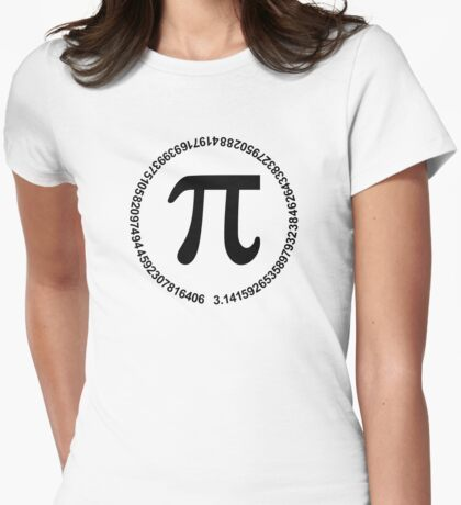 Pi circle Womens Fitted T-Shirt