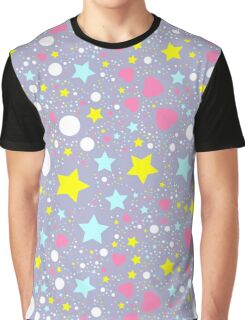 Abstract background with stars  Graphic T-Shirt