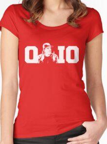 Ohio State Michigan Coach Rivalry Shirt Women's Fitted Scoop T-Shirt