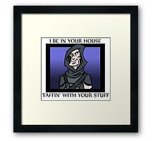 Garrett's In Your Stuff Framed Print
