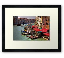 Parking Spaces (Venice Style) Framed Print