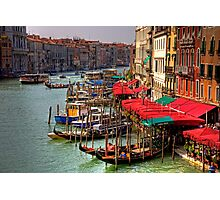 Parking Spaces (Venice Style) Photographic Print
