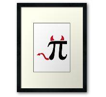 Pi devil Framed Print