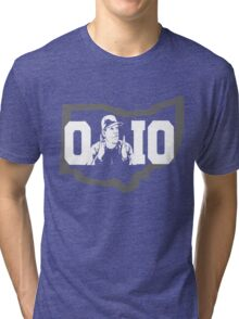 Ohio State Michigan Map Shirt Tri-blend T-Shirt
