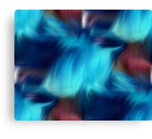 Blue Abstract Brush Strokes Canvas Print