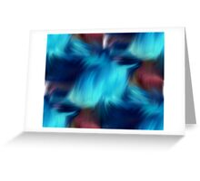 Blue Abstract Brush Strokes Greeting Card