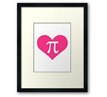 Pi heart Framed Print
