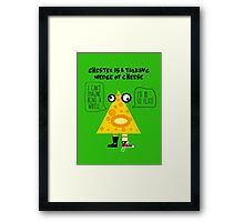 Chester the Cheese Wedge Framed Print