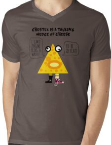 Chester the Cheese Wedge Mens V-Neck T-Shirt