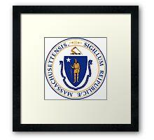 Massachusetts seal Framed Print