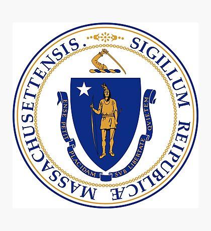 Massachusetts seal Photographic Print