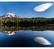 Mount Rainier and Reflection Lake Photographic Print