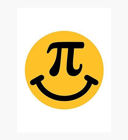 Pi Smiley Photographic Print
