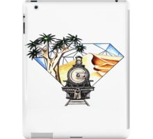 Train, desert and Quiver Trees iPad Case/Skin