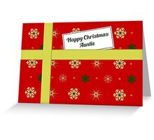 Auntie red Christmas parcel card Greeting Card