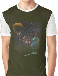 Bubble Planets Ball Graphic T-Shirt