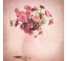 Bouquet  of pink and yellow flowers Photographic Print