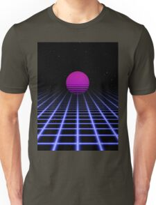 80s Digital Horizon - Sunset Aesthetic Unisex T-Shirt