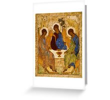 Holy Trinity Icon Christian Religious Wall art Greeting Card
