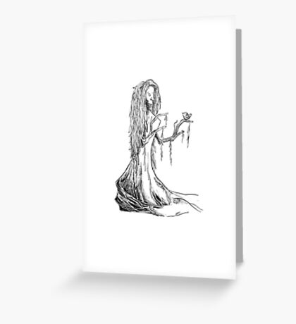Lady Willow Greeting Card