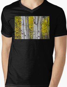 Colorful Autumn Aspen Tree Colonies Mens V-Neck T-Shirt