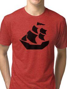 Pirate sail ship boat Tri-blend T-Shirt