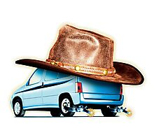 Cowboy car Photographic Print