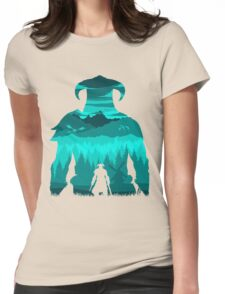 Dragonborn Silhouette Womens Fitted T-Shirt