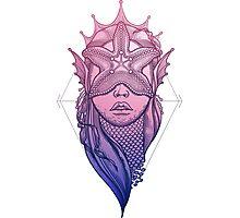 Mermaid and starfish Photographic Print