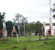 The Four Chimneys remain standing Heathcote by Margaret Morgan (Watkins)