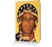 Polish Black Madonna, Our Lady of Czestochowa, Madonna and Child Greeting Card