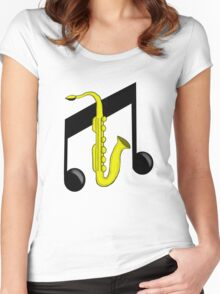 Jazz Music Women's Fitted Scoop T-Shirt