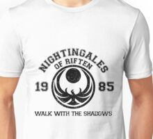 Nightingales of Riften - Jersey Style (Black) Unisex T-Shirt